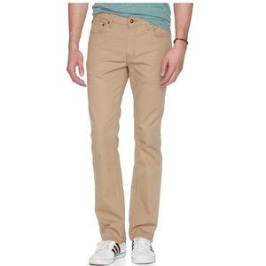 Men's slim straight khaki jeans 30x30